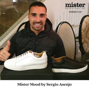 Sergio Asenjo focus on new Mister sneakers collection this spring
